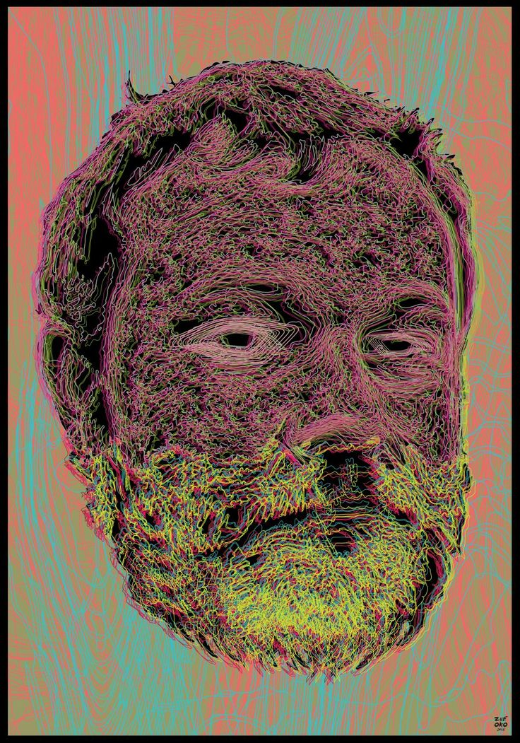 ZUEOKO350  psychedelic beard.