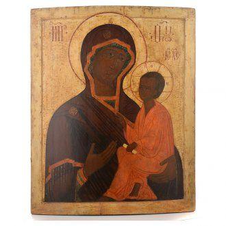 Icona russa antica Madre Dio Tichvin XVII sec | vendita online su HOLYART