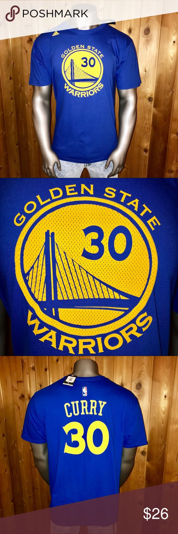 NWT! Adidas Warriors Basketball Steph Curry Shirt Brand New With Tags!  Size: U.S. Men's XL Color: Royal Blue Adidas Go-To Tee Official NBA & Golden State Warriors Basketball Team Apparel Stephen Curry #30 Regular Fit  T-Shirt comes from a smoke and pet free home  Thanks for looking! adidas Shirts Tees - Short Sleeve