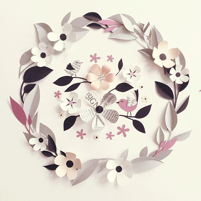 Paper love ... Paper Crafts = Hanna Nyman Paper poetry by Stockholm based designer and print designer Hanna Nyman. WebShop on website.