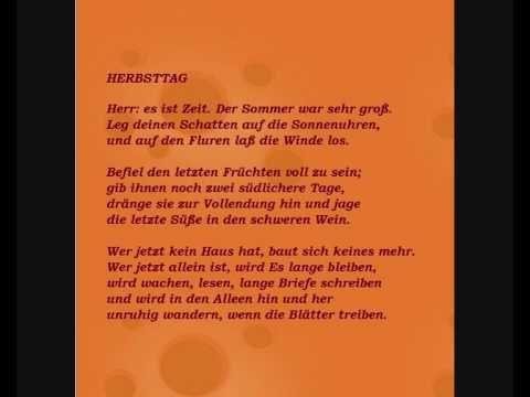 Rainer Maria Rilke - Gedicht 'Herbsttag',  ins Niederländische übersetzt...