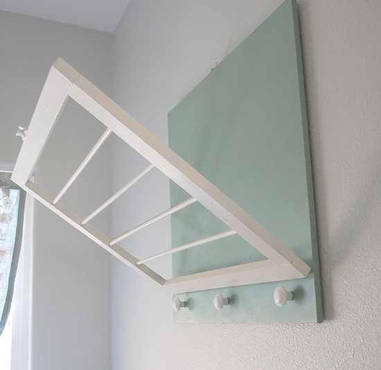 Laundry Room Drying Rack - Close it up out of the way when not being used