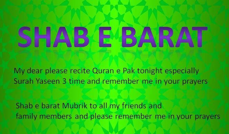 Latest Shab e Barat Prayers, SMS, Duas, Hadith