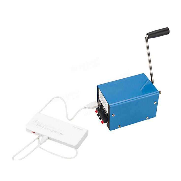 Outdoor 20W Multifunction Portable Manual Crank Generator Emergency Survival Power Supply Sale - Banggood.com