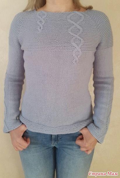 Мой ручеек ( пуловер спицами по он-лайну)