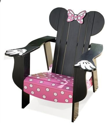 Disney Minnie Mouse Adirondack Chair With Black Finish