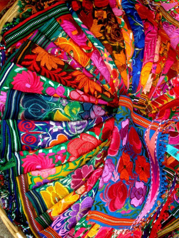 Tissus Mexicains Couleurs Pinterest