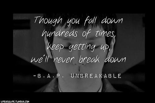 b a p unbreakable song lyrics pinterest songs
