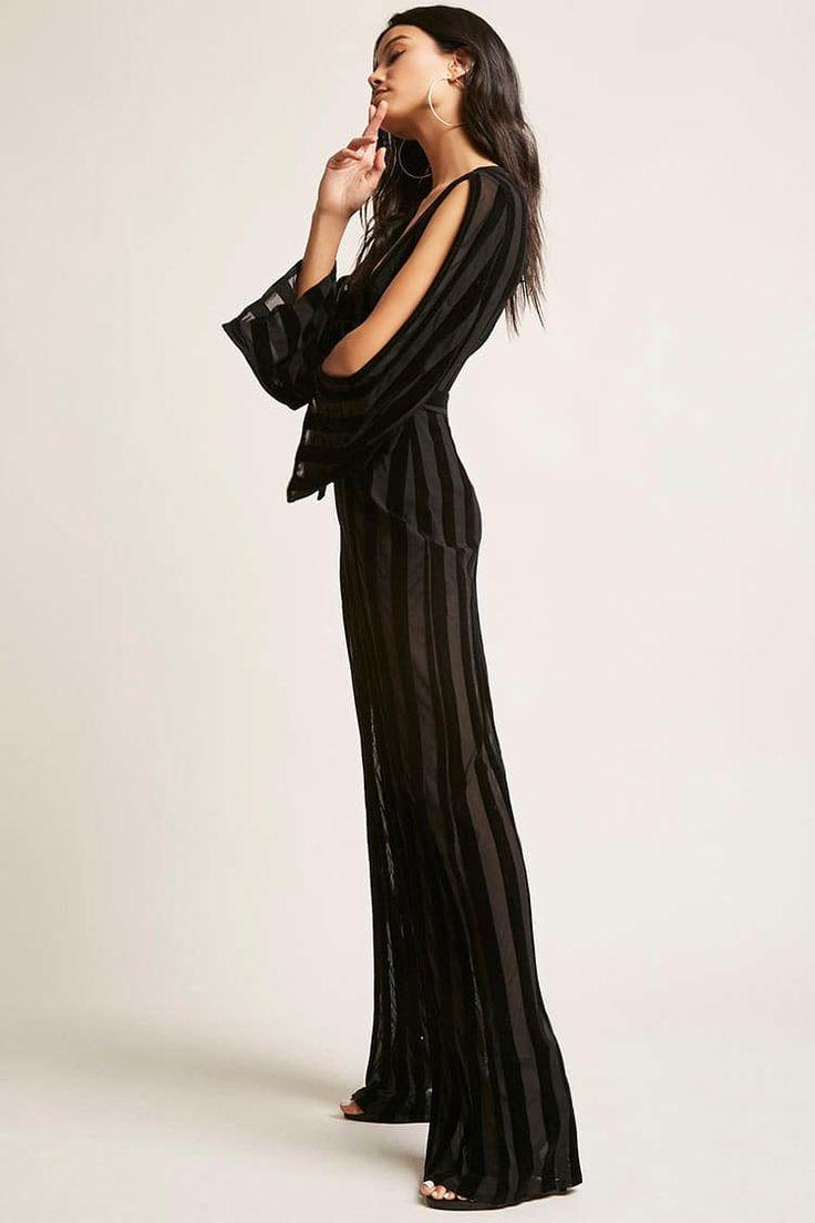 Velvet Shadow Stripe Jumpsuit