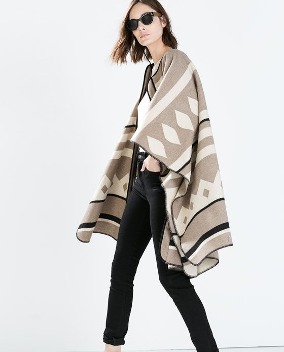 Image 4 of PONCHO COAT from Zara