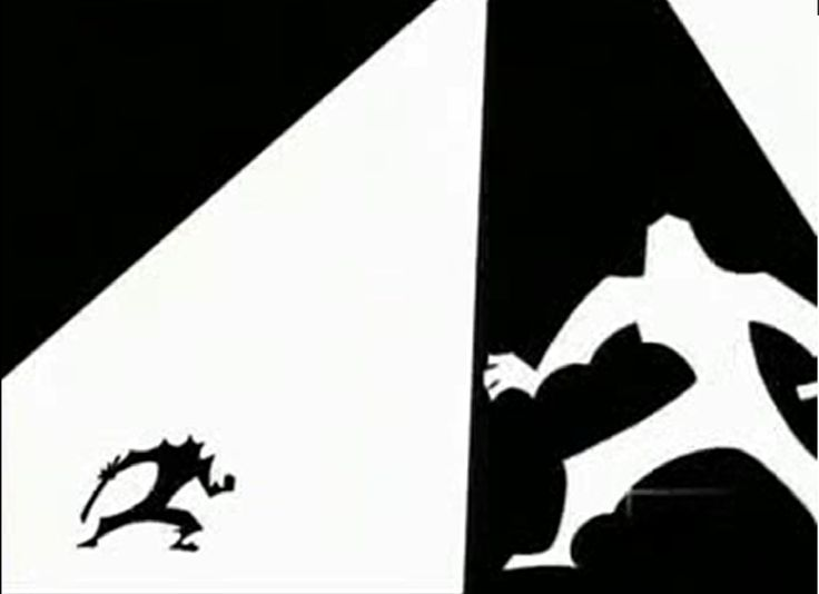 Samuri Jack vs the Shinobi Shadow Warrior. the silhouette of the two warriors moving between light and dark focus on the fast movement and form of the piece