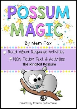 Possum Magic is a much loved picture book by Australian author Mem Fox. In the story, the two main characters are Grandma Poss and Hush. Hush is made invisible by Grandma Poss to protect her from dangers in the Australian bush.But when Hush longs to be able to see herself again, the two possums travel around Australia to find the people food that will make Hush visible again.I have put together some fun Read Aloud Response activities that are sure to engage and delight your little…