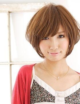 丸顔女性におすすめ!ショートヘアスタイル画像集!【ヘアカタログ61選】 - NAVER まとめ