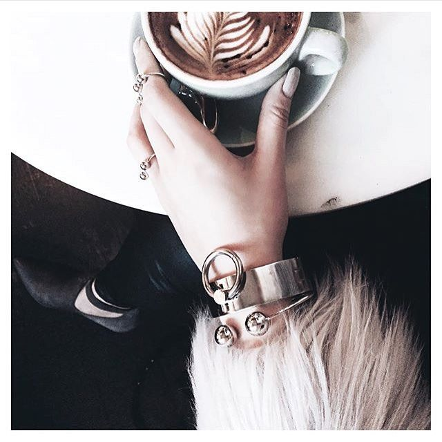 @chrystelleaudette tripling up in @thpshop.co best sellers - Bound Cuff, Barbell Cuff + Ring trio #THPgirl #thpshopco ✔️✔️✔️