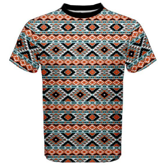 Colorful Colorful Navajo Pattern Men's Sport Mesh Tee