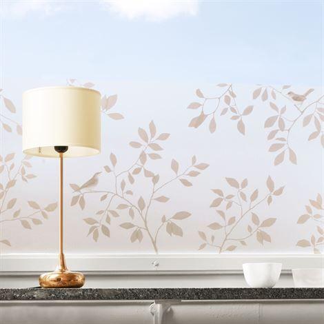 Birds window screen film copper - 34x98 cm - Siluett Frost