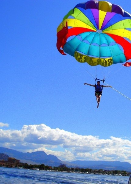 Summer is here! Have fun parasailing in Kelowna BC  -- Curated by: Ultimate Social Club | #4 1900 46th avenue | 2505494418