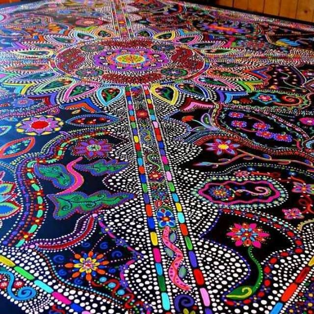 I love this floor; I wish I had a room where I could try this!