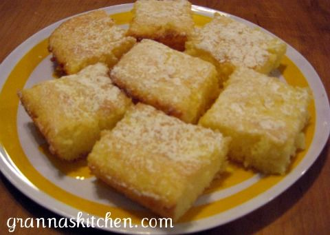 Love me some lemon bars - and these are different than any I've seen before!
