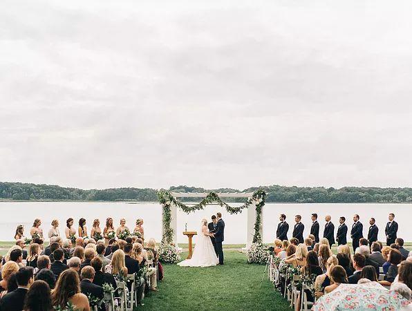 Nature-inspired wedding at Waldenwoods, Hartland, Michigan / Photo by Sean Cook