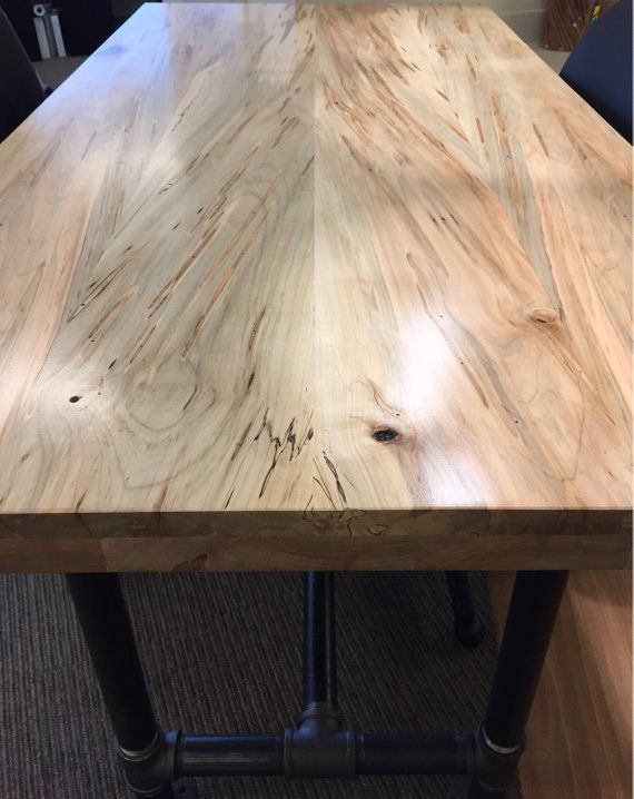 Reclaimed Maple Slab Countertop Tabletop Reclaimed Salvaged Etsy Maple Tables Oak Table Dining Table In Kitchen