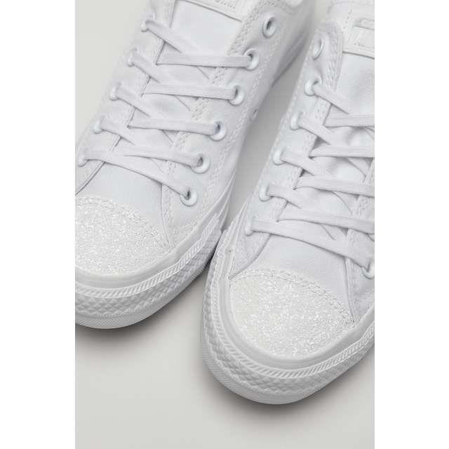 Trampki Damskie Converse Converse Biale Chuck Taylor All Star C563464 White White Silver Silver Converse Chuck Taylors Sneakers