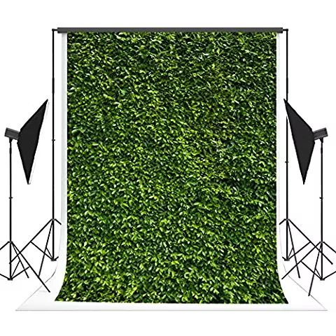 Kate Microfiber Seamless Spring Backdrop for Photography Green Leaves Photo Booth Props Easter Background 5x7ft