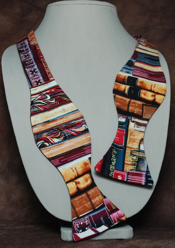 """""""I'll be in the Library"""" bow tie by AbandonedWarehouse on Etsy"""