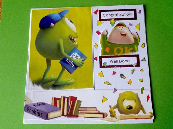 monsters inc well done congratulation university by LunarCrafts