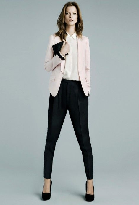Corporate Holiday androgynous sexiness from Zara