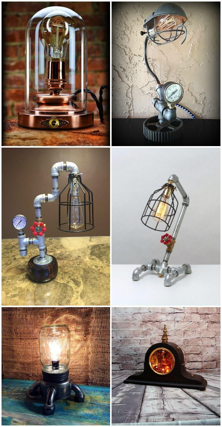 10 Amazing Steampunk Desk Lamps