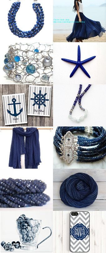 Navy Blue - Summer 2015 by Karen on Etsy--Pinned with TreasuryPin.com