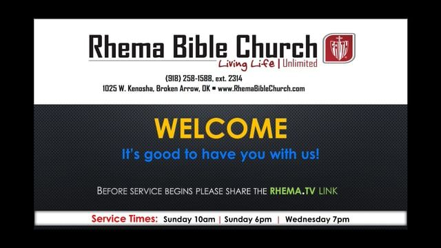 Welcome to RHEMA Bible Church! Thank you for worshiping with us