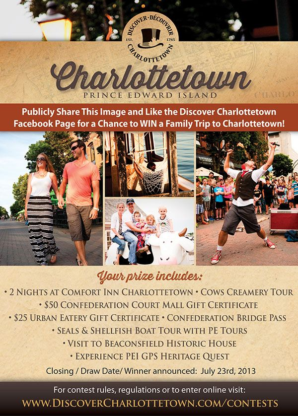 Win a 2 - Night Family Getaway to Charlottetown PEI!