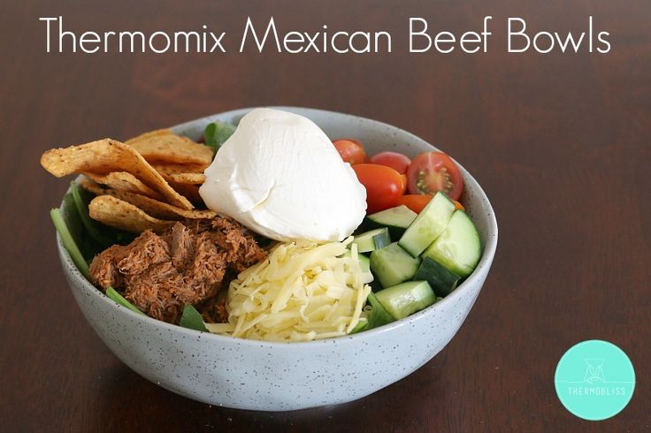 Thermomix Mexican Beef Bowls - Thermobliss