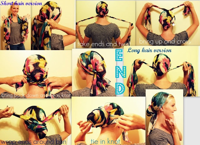 All Things Lovely...: { How to Tie a Head Wrap }