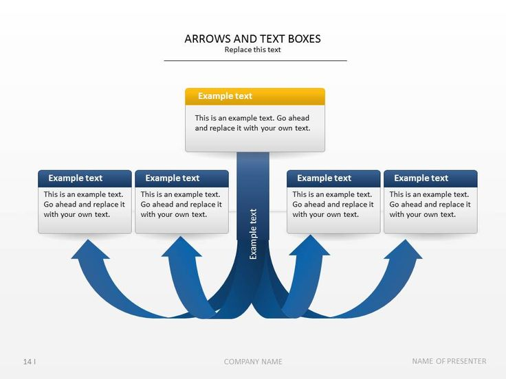 PowerPoint slide templates - Arrows and Text Boxes