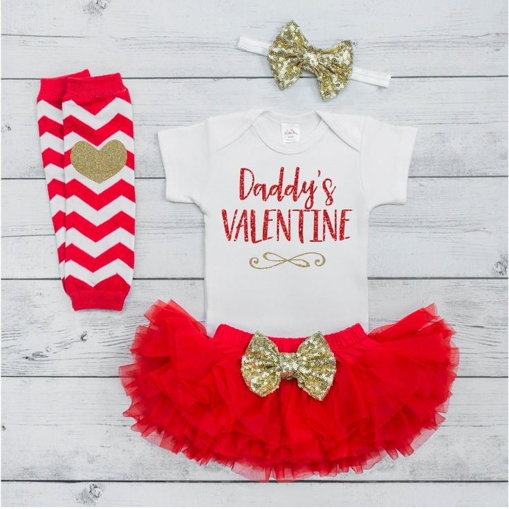 Valentine's Baby Girl Outfit Set 1st Valentines Day Girl Outfit Valentines Baby Outfit Newborn Valentine's Outfit Daddy's Valentine V015S #Baby #baby_girl_valentines_day #baby_girl_valentines_days
