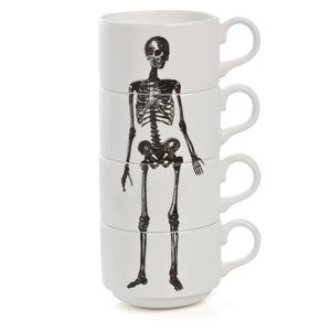 Stackable Skeleton Espresso Cups from Phoebe Richardson