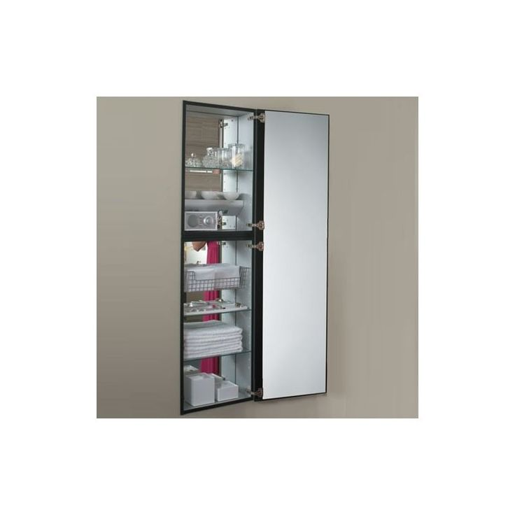 "Robern MC2070D8RE2 M Series 20"" x 70"" x 8"" Single Door Medicine Cabinet with Rig Santos Rosewood Bathroom Storage Medicine Cabinets Single Door"