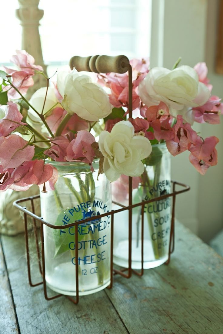 Use what you have handy for a vase....