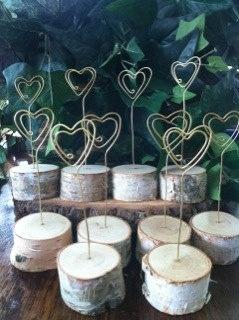 Kartenhalter aus Holz für wunderschöne Tischkärtchen, super für die Tischdekoration