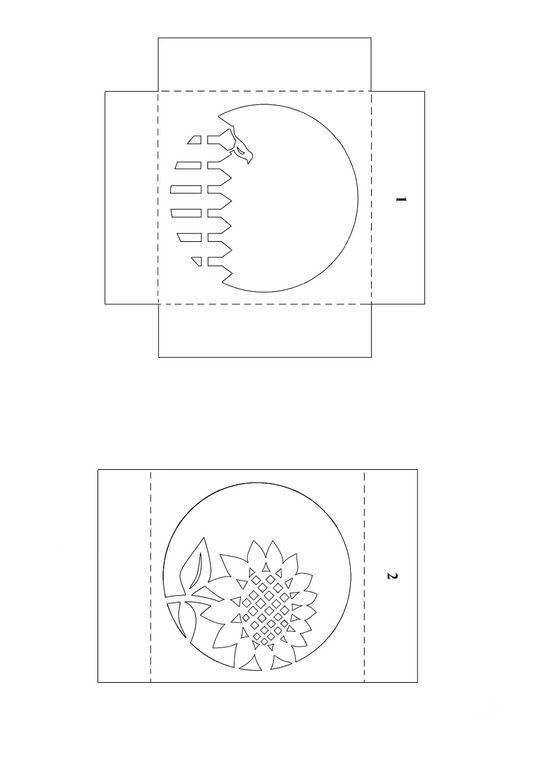 Бумажные тоннели открытки схемы, хохмы смене