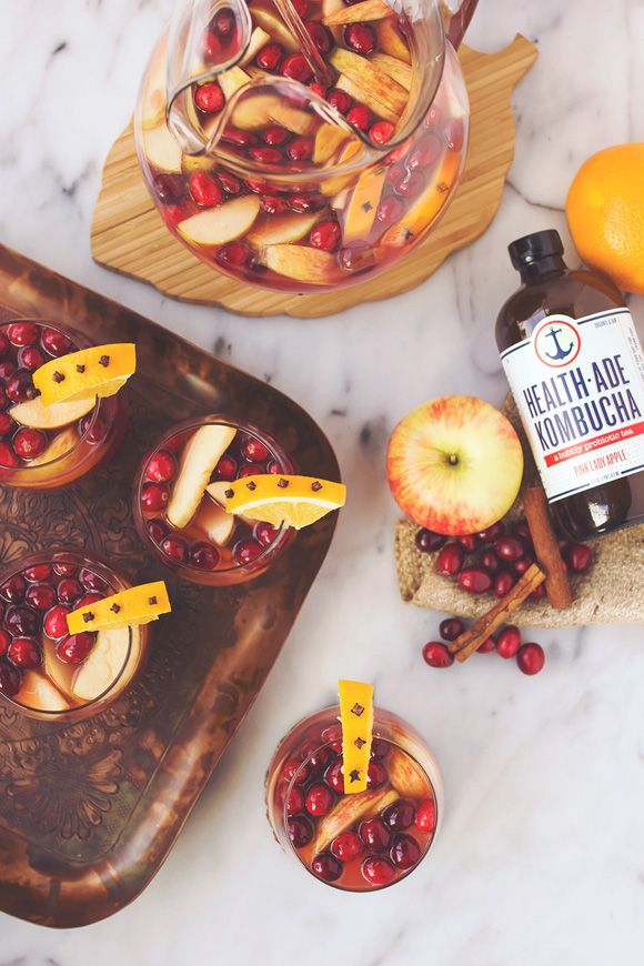 Spiced Apple Cranberry Kombucha Sangria | Free People Blog #freepeople