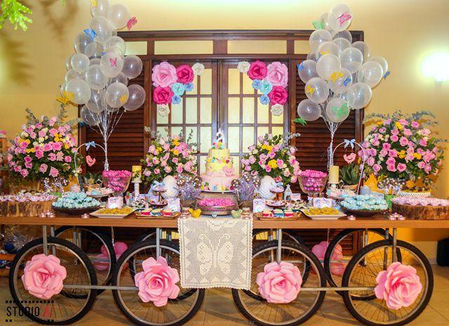 para para festas no Pinterest  Mesas, Festas de chá de fraldas e