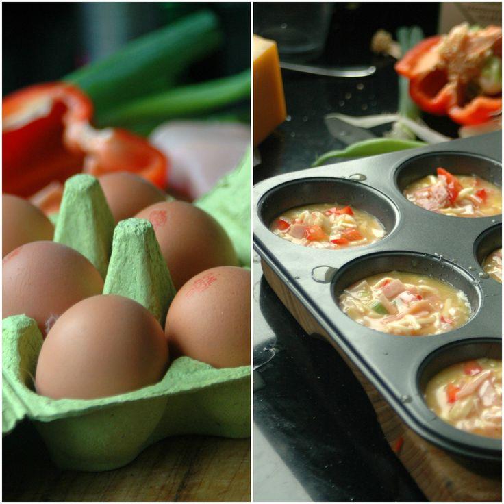 Geen tijd voor een gezond ontbijt? Neem een omelet-to-go. Met dit recept maak je ze heel gemakkelijk de avond van tevoren en is je ochtend stress-vrij.