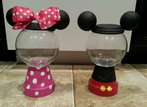 Minnie and mickey mouse center pieces, birthday party or baby shower candy dish…
