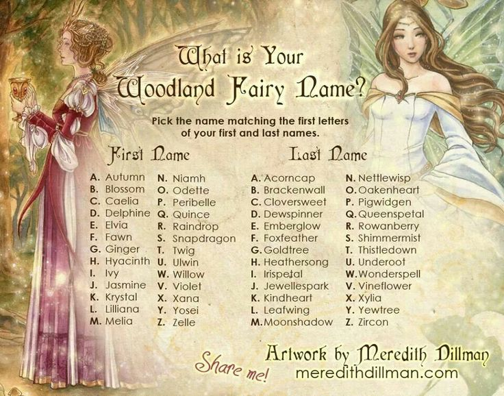What's Your Fairy Name Fairy names, Fantasy names