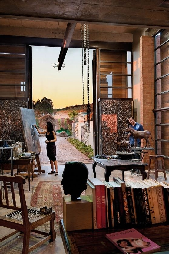 Angus Taylor and Rina Stutzer. Now, THIS is my idea of an office!!
