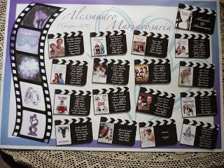 "Valentina Di Chiara: Tableau mariage tema ""Film d'Amore"""